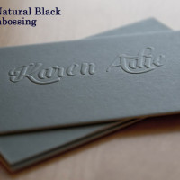 Embossing With Natural Black