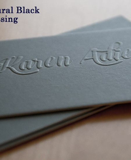 Cheap business card printing sydney melbourne brisbane printroo embossing with natural black reheart Choice Image