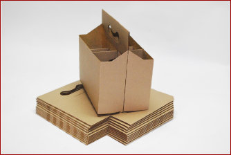 Custom corrugated packing boxes online printroo australia for 6 pack beer carrier template