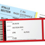 Event tickets With Barcode