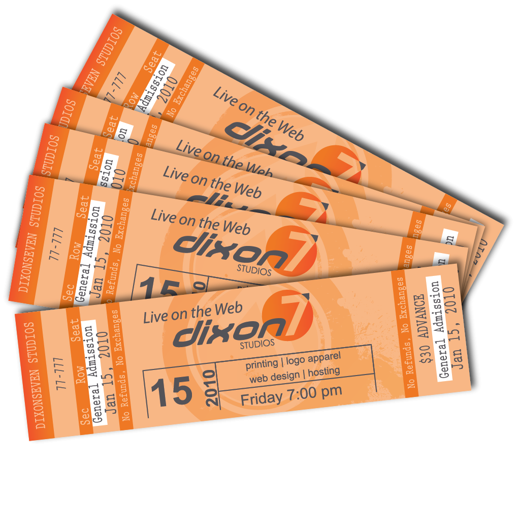 event tickets printing cheap printroo australia