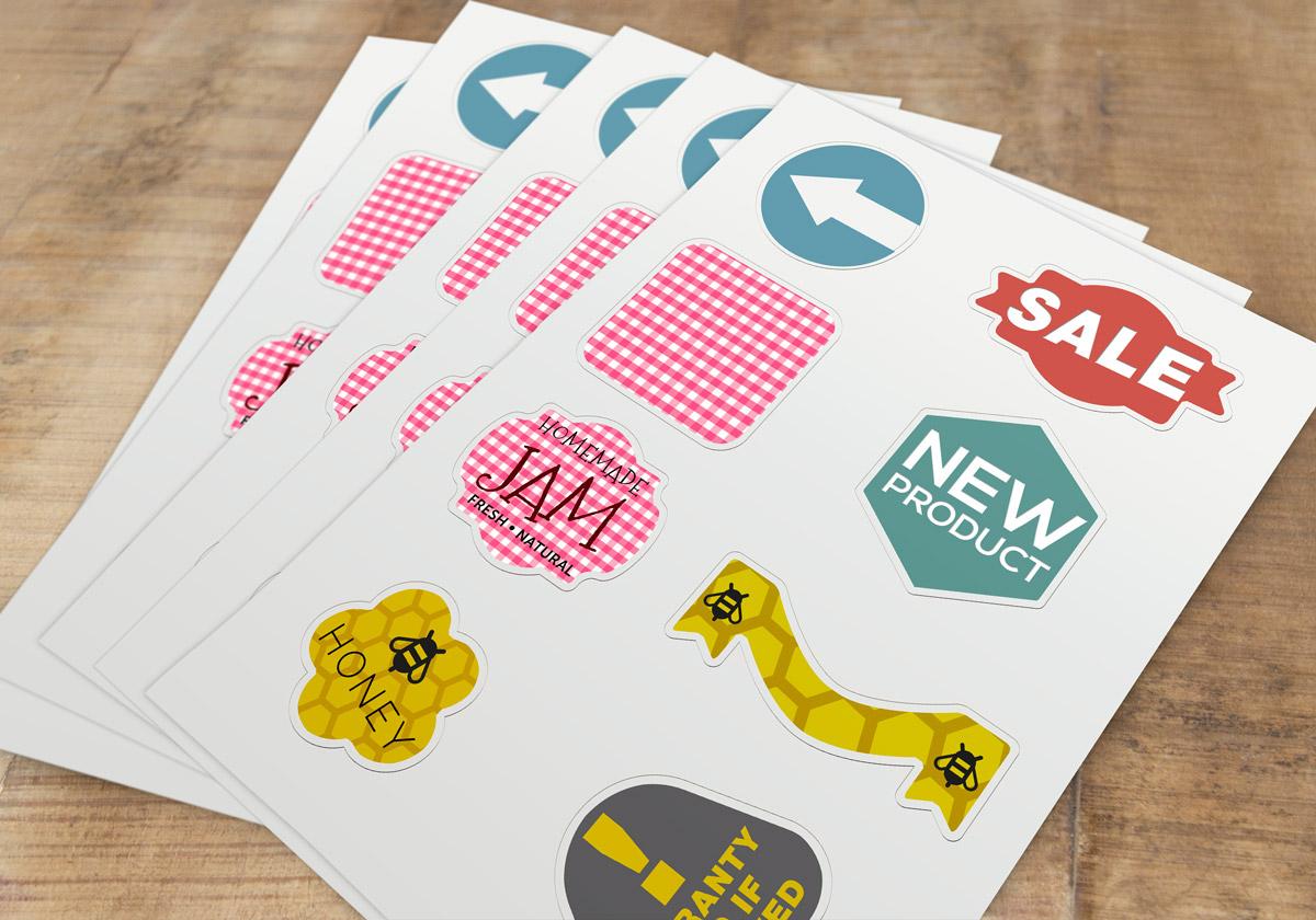 Custom shape kiss cut sheet labels printing australia sheet labels printing australia round labels sheet stickers
